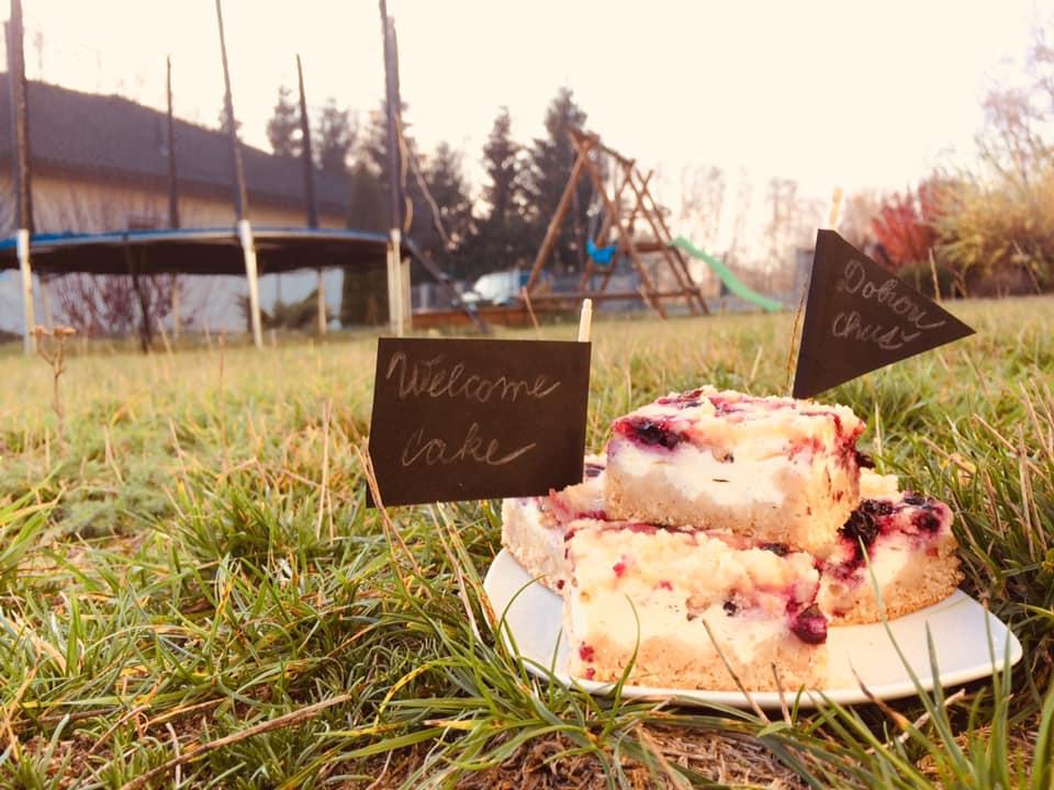 Welcome cake v Apartmánu Rodvínov